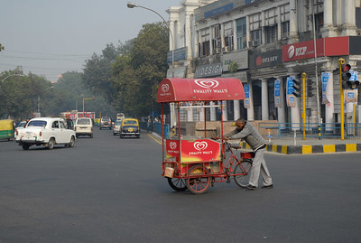 Connaught Place - not the modern shopping center we were expecting
