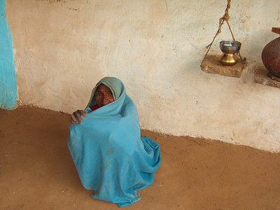 We spent some time with a family in the village. This is the matriarch - her husband is dead. She lives with her two sons and their family