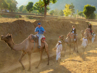 We took a short ride down a dusty track to a nearby village