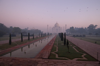 At dawn we visited the Taj Mahal. It is indeed awesome. I have seen many sights in many countries and been underwhelmed - my expectations were generally not met. The Taj is different. Photographs do not do it justice. It exceeded expectations.