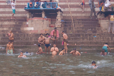 Many bathe in the Ganges daily