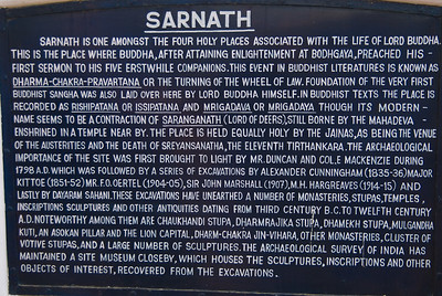 We visited Sarnath, near Varanasi - a significant Buddhist site - indeed, the place wher Buddhism started. Oddly enough, there are almost no Buddhitsts in present day India