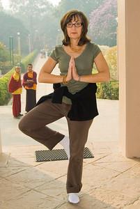 Hilda was inspred to strike a yoga pose