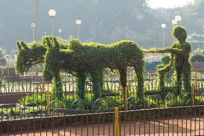 Topiary atop Malabar Hill