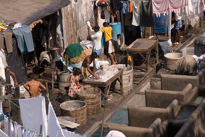 Acres of men washing clothes