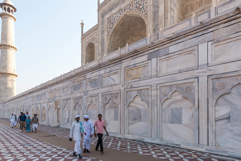 Visitors at the Taj Mahal