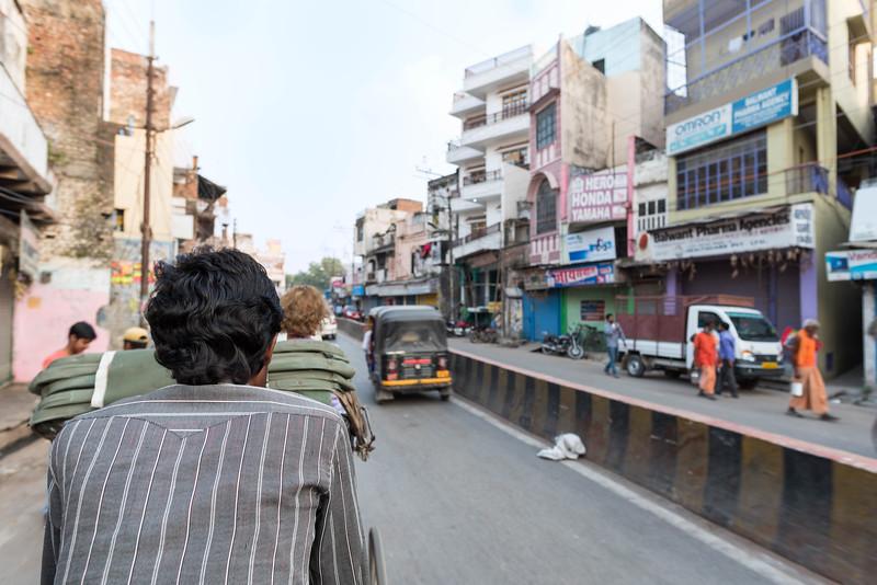 Cycle Rickshaw Ride Into Varanasi's Historic Center
