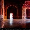 India - Uttar Pradesh State - Agra - Taj Mahal - UNESCO World Heritage Site - Jewel of Muslim Art in India - Exquisite 17th century ivory-white marble mausoleum on south bank of Yamuna river