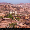 India - Rajasthan - Jodhpur - Jaswant Thada - Hindu Sri Devkund Mahadev Temple - Beautiful white marble structure & Enotaph built by Maharaja Sardar Singh of Jodhpur in 1899 in memory of his father & serves as cremation ground for royal family of Marwar