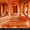 "India - Rajasthan - Jaisalmer - ""Golden City of India"" - Former medieval trading center in heart of Thar Desert - Amar Sagar Jain Temple"