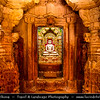 "India - Rajasthan - Jaisalmer - ""Golden City of India"" - UNESCO World Heritage Site - Former medieval trading center in heart of Thar Desert - Jaisalmer Fort - Jain temple of Jaisalmer built by yellow sandstone during 12-16th century - Among most famous Jain temples in Rajasthan - Chandraprabhu Jain Temple"