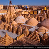 "India - Rajasthan - Jaisalmer - ""Golden City of India"" - UNESCO World Heritage Site - Former medieval trading center in heart of Thar Desert - Jaisalmer Fort - Jain temple of Jaisalmer built by yellow sandstone during 12-16th century - Among most famous Jain temples in Rajasthan - Chandraprabhu Jain Temple"