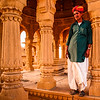 "India - Rajasthan - Jaisalmer - ""Golden City of India"" - Former medieval trading center in heart of Thar Desert - Bada Bagh - Barabagh - Golden Royal Cenotaphs of Bada Bagh & garden complex"