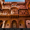 India - Rajasthan - Jodhpur - Mehrangarh - Mehran Fort - One of largest forts in India, built in around 1459, situated 410 feet above the city & enclosed by imposing thick walls