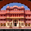 India - Rajasthan - Jaipur - Historical Rajasthani town nicknamed as Pink City - Old City - UNESCO World Heritage Site - City Palace - Once seat of kings that ruled the region - One of the best tourist spots in city