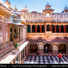 India - Rajasthan - Udaipur - City of Lakes - City Palace - PalaIndia - Rajasthan - Udaipur - City of Lakes - City Palace - Palace Complex at Shores of Lake Pichola built over a period of nearly 400 years - Fine example of splendour that Mewar rulers enjoyed centuries ago