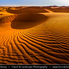 India - Rajasthan - Thar Desert - Great Indian Desert - Large arid region in northwestern part of India - Shapes & Shadows of Sand Dunes - One of largest sandy stretches in world
