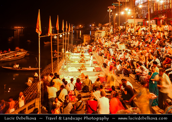 India - Uttar Pradesh State - Varanasi - Benares - Banaras - Ancient Holy City Situated on Banks of Ganges (Ganga) - Mother of Rivers - One of world's oldest continually inhabited cities - Spiritual capital of India with more than Hindu 2,000 temples