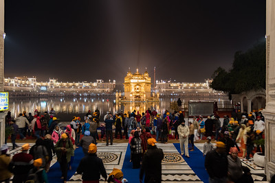 January 2018 - The Golden Temple in Amritsar, India.Night time image