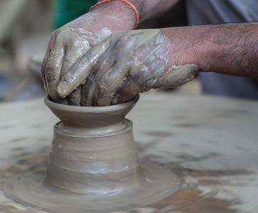 Pottery Demonstration, Chambal, Uttar Pradesh, India, 2014