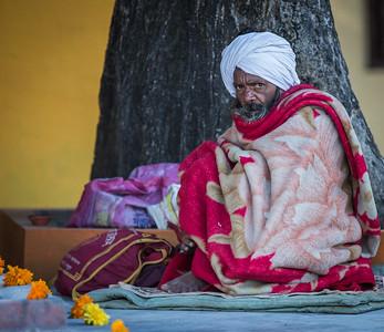 Sadhu near Garjiya Devi Temple