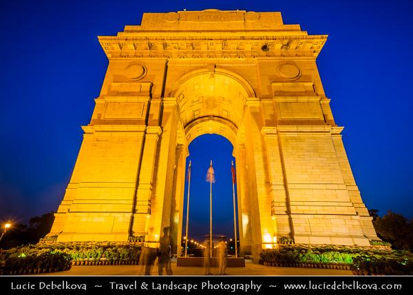 India - Delhi - New Delhi - India Gate - इंडिया गेट - National monument of India & one of largest war memorials in India