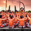 Indonesia - Bali Island - Traditional Kecak Dance at Uluwatu Temple - Hindu temple set on the cliff bank with stunning view of Indian Ocean & spectacular sunset