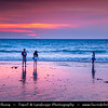 Indonesia - Bali Island - Purple sunset at Jimbaran beach - Located on Bali's west coast - Jimbaran offers a small secluded beach area, where tranquility and peace are the perfect antidote to a stressful world