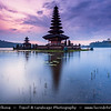 Indonesia - Bali Island - Pura Ulun Danu Temple at Lake Bratan at Sunrise - Temple of the Lake Goddes at Bratan is one of Bali's most visited and most spiritually important balinese temple