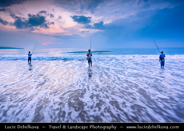 Indonesia - Bali Island - Traditional Life of Fishermen at Jimbaran beach - Located on Bali's west coast - Jimbaran offers a small secluded beach area, where tranquility and peace are the perfect antidote to a stressful world