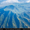 Indonesia - Flores Island - Birds view over Incredibly Volcanic Island - The cone shaped volcanoes on Flores are still potentially and demonstrably active