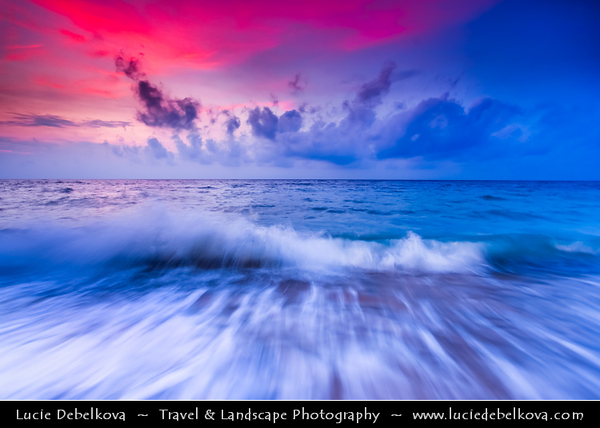 Indonesia - Lombok Island - Sunset at Beautiful Senggigi Beach