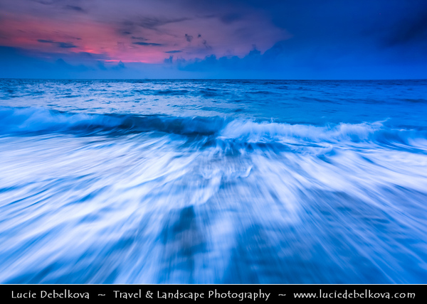 Indonesia - Lombok Island - Dusk - Twilight - Blue Hour at beautiful Senggigi beach