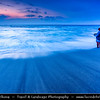 Indonesia - Lombok Island - Lonely Fisherman at Beautiful Senggigi beach at Sunset