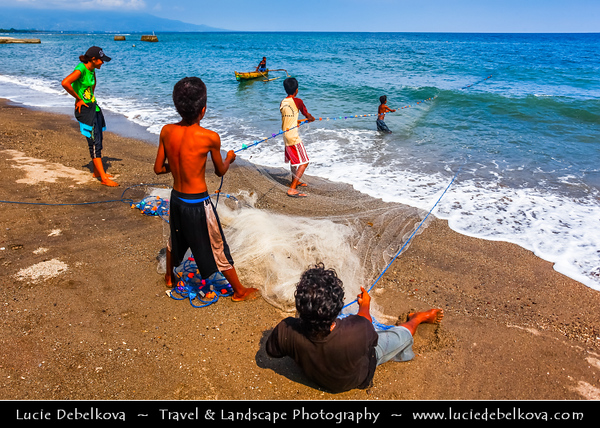 Indonesia - Flores Island - Maumere - Traditional Fishing on shores of Flores Sea