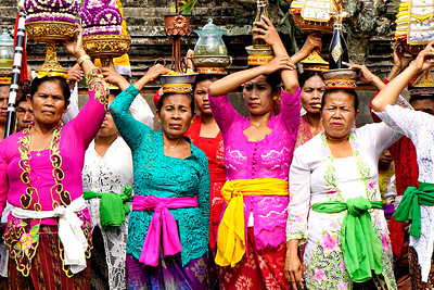 Women at a temple festival Ubud, Bali