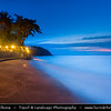 Indonesia - Lombok Island - Dusk - Twilight - Blue Hour at beautiful Senggigi beach