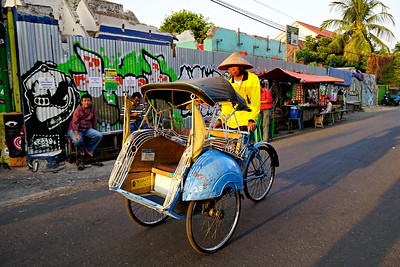 Becak and driver