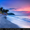 Indonesia - Lombok Island - Beautiful Senggigi beach at Sunset