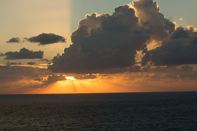 Sunset over the Mediterranean Sea