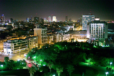 The greenery and lights of Tel Aviv were a welcome relief from the desert