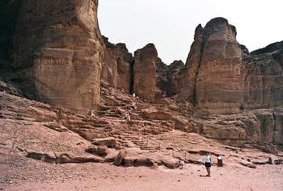 Near the mines - an Egyptian site in the hills - note the people for scale