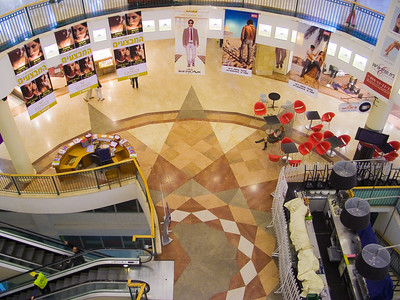 The shopping malls were the same as everywhere in the world