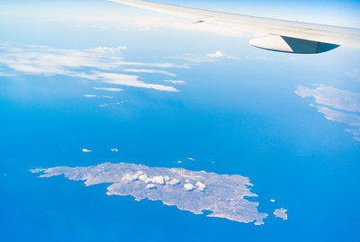 We had a great view of the Greek Islands - a reminder of our trip last August