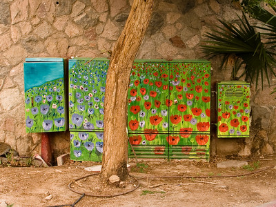 Decorated utility boxes