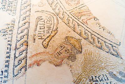 Mosaic on sysnagogue floor
