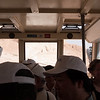 Masada was hot - so we all took the cable car
