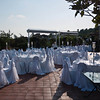 A wedding set-up on the roof of our hotel