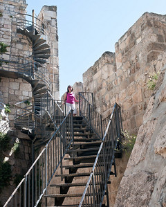 Hilda and I took the parapet walk along the wall of the old city.