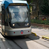 Trams made use of the sidewalks hazardous at times